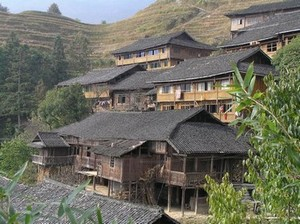 Wooden Houses at Longsheng