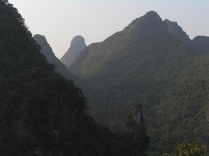 Hills around Yangshuo Park