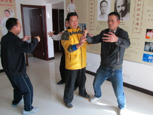 Xie Yong Guang teaching Zhan Zhuang in his Handan Studio